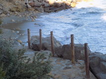 Cala de la playa Imágenes de archivo libres de regalías