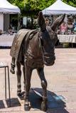 CALA DE MIJAS, ANDALUCIA/SPAIN - MAY 27: Donkey Statue in Cala d Royalty Free Stock Photos