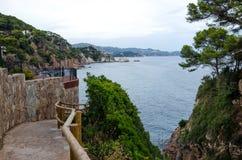 Cala de Sant Francesc, παραθαλάσσιο θέρετρο στον κόλπο κοντά Blanes, Κόστα Μπράβα, Ισπανία στοκ εικόνα με δικαίωμα ελεύθερης χρήσης