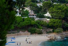 Cala de Sant Francesc, όμορφος κόλπος, Blanes ακτή, Κόστα Μπράβα, Ισπανία, Καταλωνία στοκ εικόνες