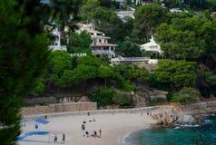 Cala de Sant Francesc, красивый залив, побережье Бланеса, Коста Brava, Испания, Каталония стоковые изображения