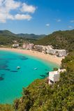 Cala de Sant Vicent. On the North East of Ibiza, Spain Stock Photos