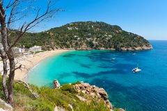 Cala de Sant Vicent. On the North East of Ibiza, Spain Royalty Free Stock Photography