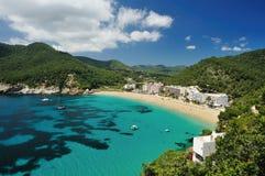 Cala de Sant Vicent, Ibiza Espagne Photo stock