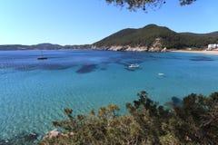 Cala de Sant Vicent, Ibiza Spain Stock Images