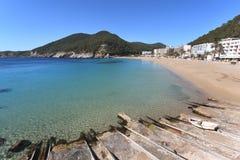Cala de Sant Vicent, Ibiza Spanien Royaltyfria Foton