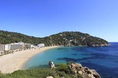 Cala de Sant Vicent, Ibiza Spanien Royaltyfri Foto