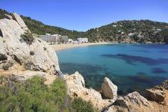 Cala de Sant Vicent, Ibiza Spanien Royaltyfri Fotografi