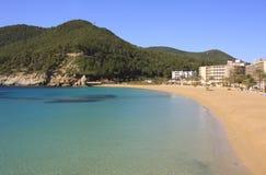 Cala de Sant Vicent, Ibiza Spanien, Eivissa Arkivfoton