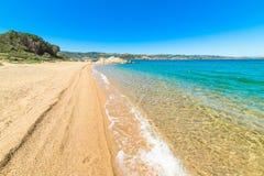 Cala dei Ginepri shoreline Royalty Free Stock Photos