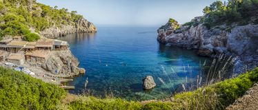 Cala Deia Mallorca Sunny Day Beach Summer fotografía de archivo libre de regalías
