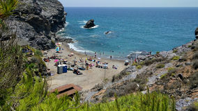 Cala del Barco beach Royalty Free Stock Images