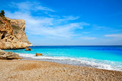 Cala del Moraig beach in Benitatxell of Alicante Royalty Free Stock Images