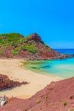 Cala del Pilar beach scenery at Menorca Stock Photos