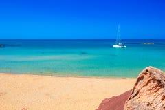 Cala del Pilar beach scenery on sunny summer day Royalty Free Stock Photos