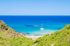 Cala Del Pilar plaży sceneria Zdjęcie Stock