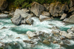 Cala del trueno - Otago Foto de archivo libre de regalías