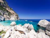 Cala-delle Sorgenti Sardinien Italien Stockbild