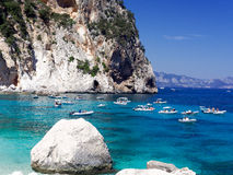 Cala-delle Sorgenti Sardinien Italien Lizenzfreies Stockfoto