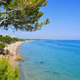 Cala dels Vienesos beach, in Miami Platja, Spain Royalty Free Stock Photos