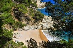 Cala den Carles beach in Tossa de Mar, Spain Stock Image