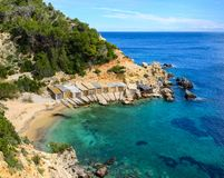 Cala den Serra, Ibiza royalty free stock images