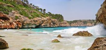 Cala des Moro, Majorca - bay with beach Stock Photos