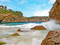 Cala des Moro, Majorca - bay with beach Stock Images