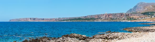 Cala di Punta Lunga coast, Macari, Sicily, Italy stock photo