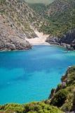 cala domestica意大利撒丁岛 免版税图库摄影