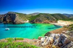 Cala Domestica beach,Costa Verde,  Sardinia, Italy. Royalty Free Stock Images