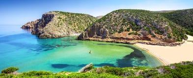 Cala Domestica beach, Costa Verde,  Sardinia, Italy. Stock Photos