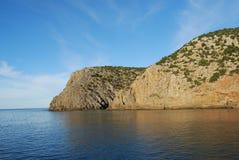Cala Domestica i det Sulcis området av Sardinia, Italien Arkivfoto
