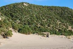 Cala Domestica im Sulcis-Bereich von Sardinien, Italien Lizenzfreie Stockfotos