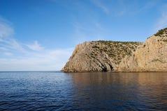 Cala Domestica nella regione di Sulcis della Sardegna, Italia Fotografia Stock
