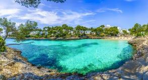 Cala Dor strand bij, Palma Mallorca stock foto's