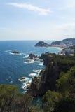 Cala em Costa Brava, Espanha Imagens de Stock Royalty Free