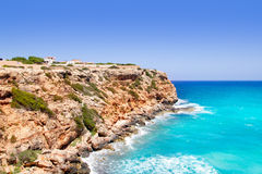 Cala en Baster in Formentera mountains Royalty Free Stock Image