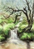 Cala en bosque de hadas libre illustration