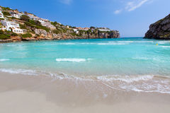 Cala en Porter beautiful beach in menorca at Balearics Stock Photography