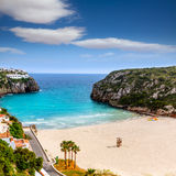 Cala en Porter beautiful beach in menorca at Balearics Stock Photo