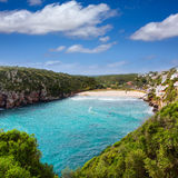 Cala en Porter beautiful beach in menorca at Balearics Royalty Free Stock Photos