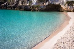 Cala en Turqueta Turqueta Beach in Menorca, Spain stock images