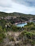 Cala Es Caranet, Ibiza fotografering för bildbyråer