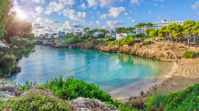 Cala Esmeralda beach, Palma Mallorca. Cala Esmeralda beach, Cala d `Or city, Palma Mallorca, Spain royalty free stock photo
