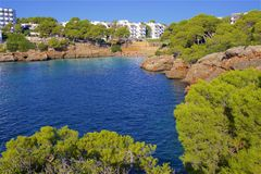 Cala Esmeralda, Mallorca. Clean waters of Cala Esmeralda, Majorca Royalty Free Stock Photo