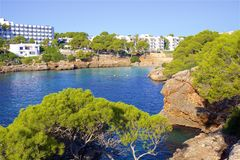 Cala Esmeralda, Mallorca. Clean waters of Cala Esmeralda, Majorca Stock Photo
