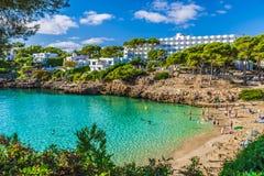 Cala Esmeralda strand, Palma Mallorca arkivfoton