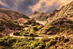 Cala Fico - Сан Pietro& x27; остров s - Италия Стоковые Изображения
