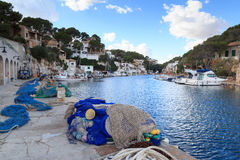 Cala Figuera ψαροχώρι λιμένας και Μεσόγειος, Majorca Στοκ εικόνες με δικαίωμα ελεύθερης χρήσης
